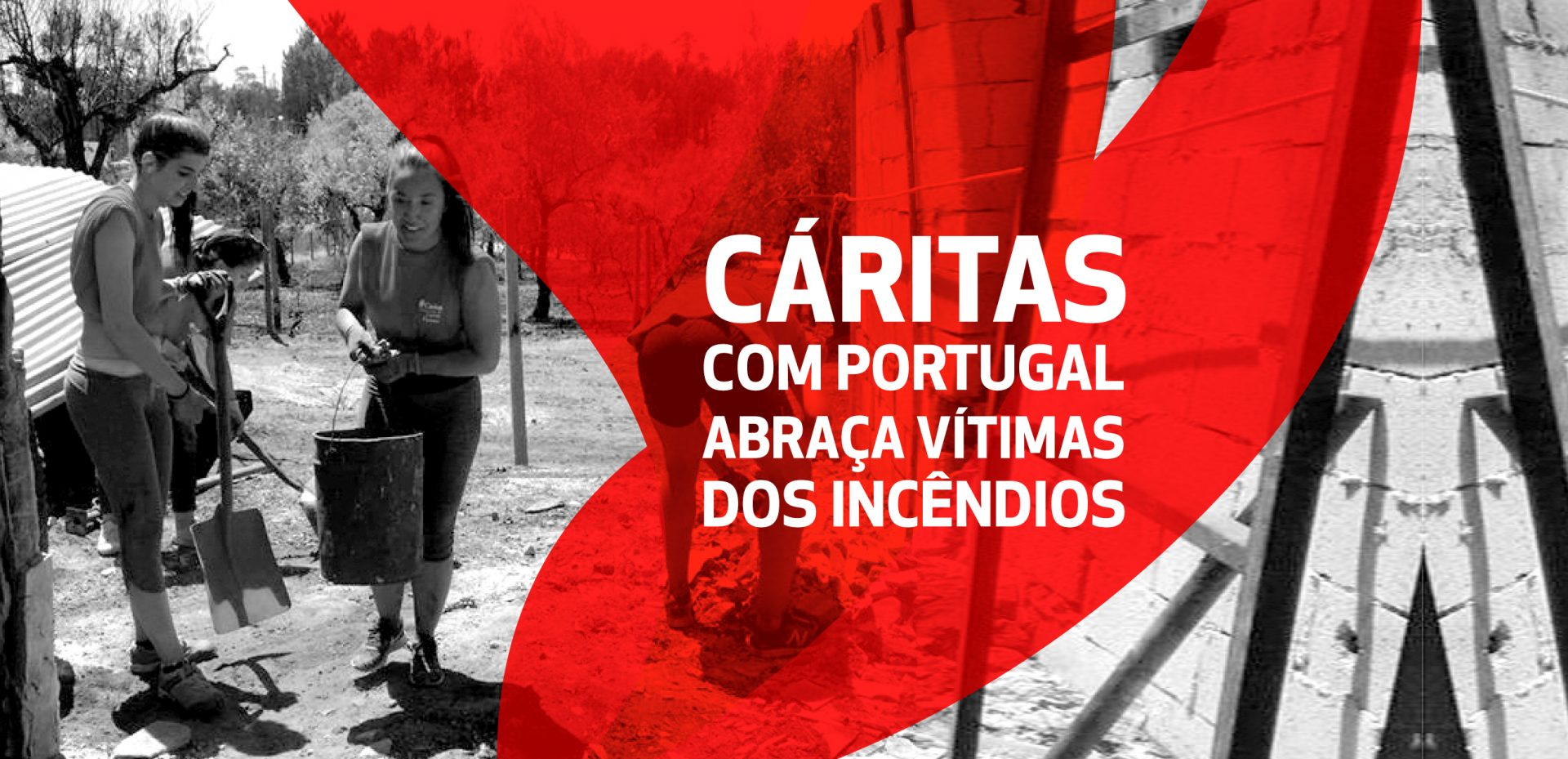 Cáritas com Portugal apoia vítimas dos incêndios